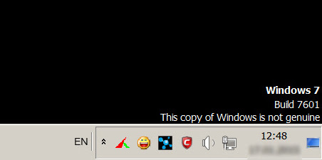 This copy of Windows is not genuine   7601