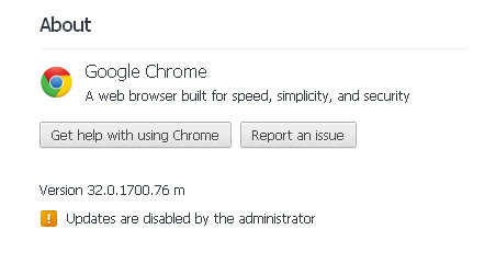 Google Chrome Updates are disabled by the administrator 1 Google Chrome Updates are disabled by the administrator Windows 7