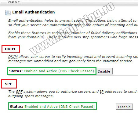 CPanel email SPAM BULK JUNK Yahoo Gmail 02 CPanel   Emailurile trimise ajung in SPAM, BULK, JUNK